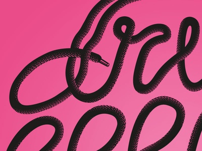 Dribbble Laces (Detail) 3d texture swirls laces typography type lettering