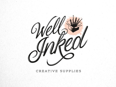 Well Inked Brand Identity - Logo script font brand identity logo design icon wordmark supplies art script branding brand logo