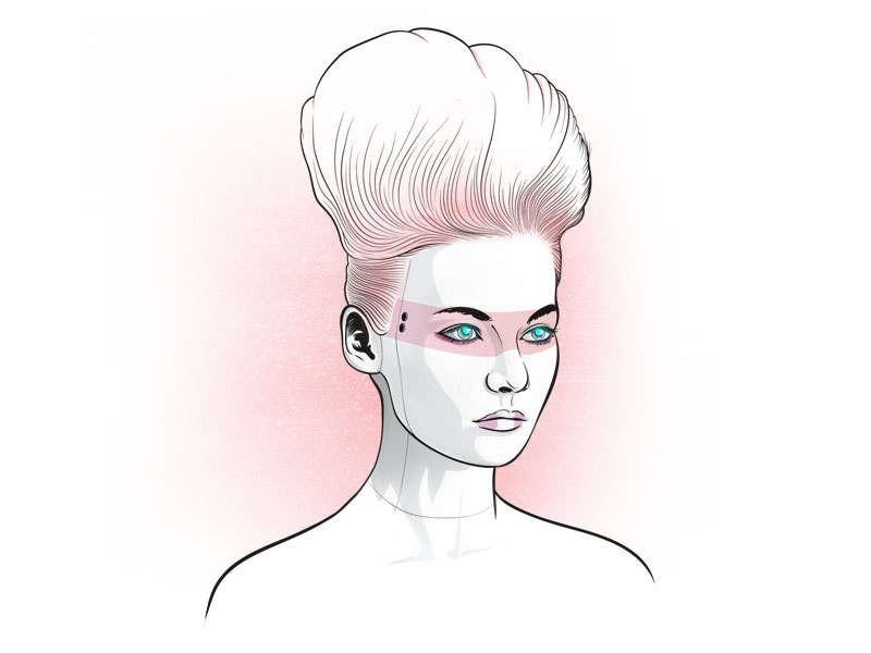 Female Android Vector Illustration character design futurism retrowave pink cyberpunk android illustrator photoshop digital illustration vector