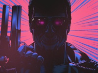 T-800 Vector Illustration movies newretrowave retrowave neon digital illustration vector 1980s 80s retro t800 terminator