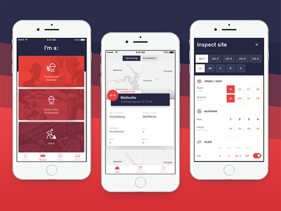 Inspection App for Construction Workers ux ui design graphic design construction inspection app app design