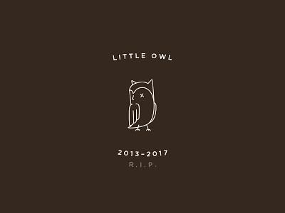 R.I.P. Little Owl coffee owl branding logo