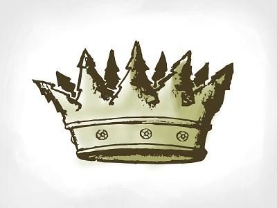 King of the Trees logo branding king crown trees disc golf