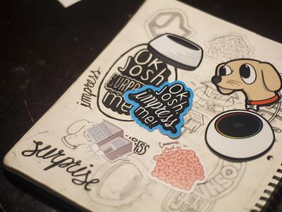 Josh.ai Laptop Stickers illustration print stickers