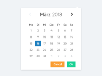 Clean Datepicker Popup