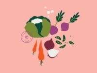 Postcard - Vegetables