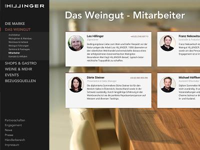 Wine Company Brand Website webdesign