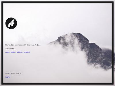 rf temporary page design minimal website