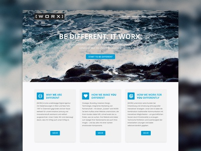 worx.at home webdesign website frontpage agency corporate