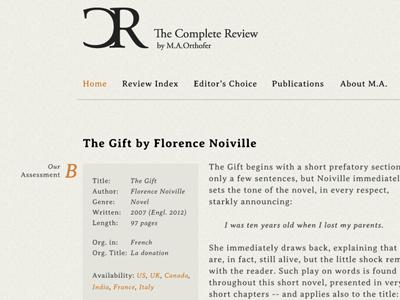 Literature blog webdesign wordpress minimal