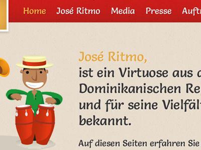 webdesign idea for a salsa artist  webdesign website colors