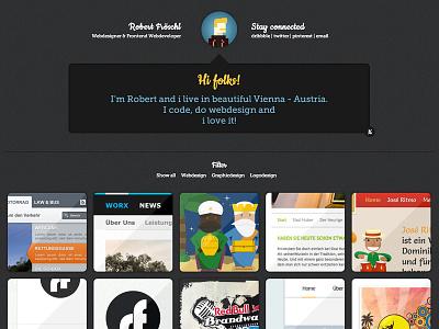Portfolio Relaunch portfolio design development