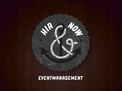 HIR & NOW logo draft identity