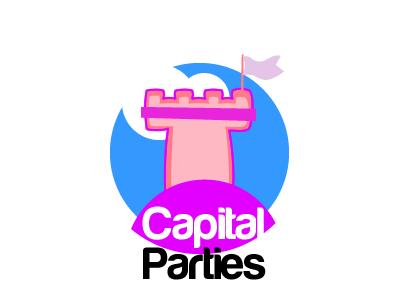 Capital parties Logo 1.1 logo castle bouncy party