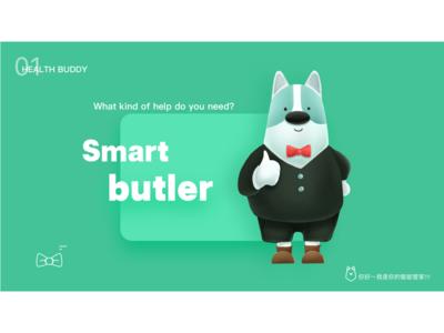 IP设计-Smart butler housekeeper intelligent icon 设计 插图 character characterdesign branding design illustration ui