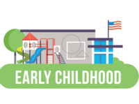School Data infographic illustration school vector tree nature flag playground slide daycare center building
