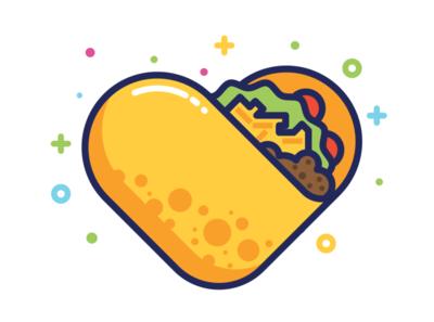 Taco Bout Love icons illustration vector cinco taco heart heart tacos