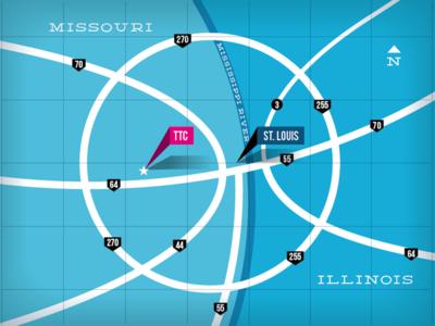 STL Basketball Highways vector illustration stl debut map