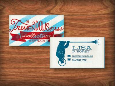 Tremendousness Biz Card WIP ttc tremendousness illustration marks id identity