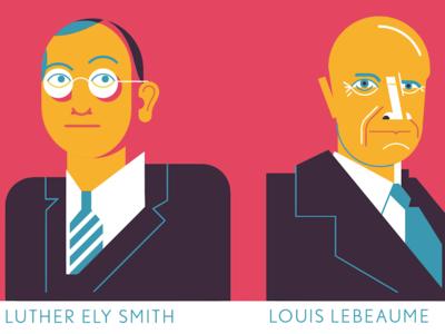 Dudes geometric vector portraits