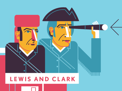 Lewis Clark stl vector arch history portraits