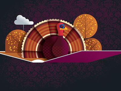 Turkey Rough thanksgiving fall popup turkey
