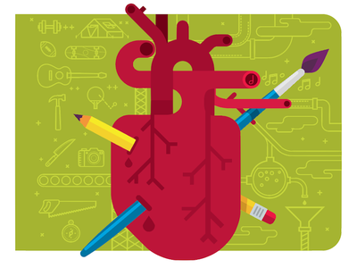Creative Passion illustration icons passion anatomy heart