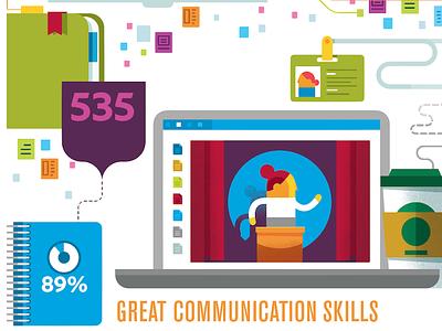Communication Skills person public speaking coffee laptop