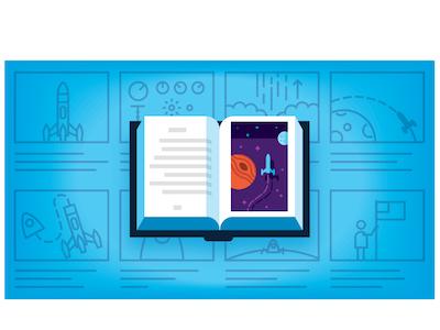 Storyboard Spot space storyboard book rocket