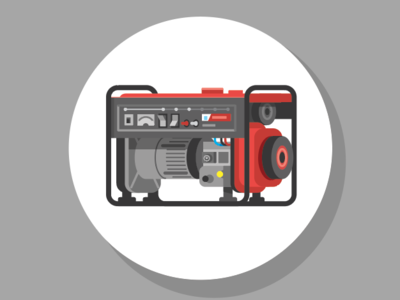 Generator graphic electric power gas generator icons infographic vector illustration