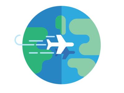 travel icon travel plane globe airplanes airplane icons infographic illustration