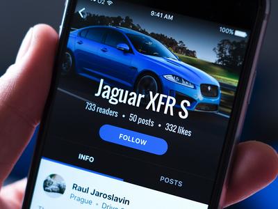 Automotive app — profile 😎