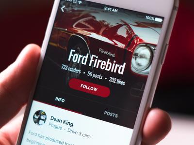 Automotive app — profile