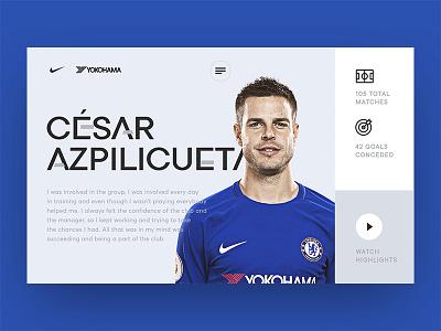 Visual exploration for Chelsea F.C. fan website premier league chelsea photo clean design footbal ui ux