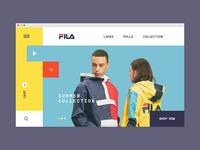 Fila concept store redesign