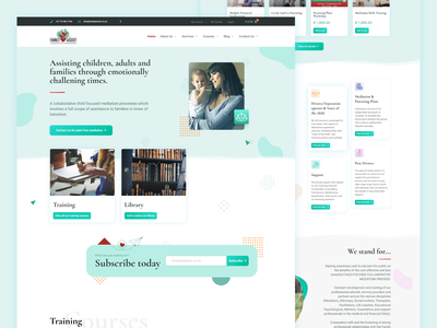 Family Assist Network - Figma and Elementor Pro woocommerce elearning ecommerce green family lawyer attorney mediation wordpress development wordpress design design ui figmaafrica figmadesign figma