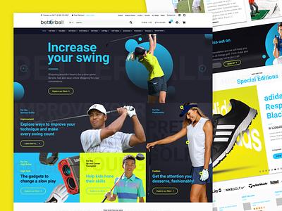 Betterball eCommerce Website Design figmaafrica figmadesign figma wordpress sport golf ecommerce website design