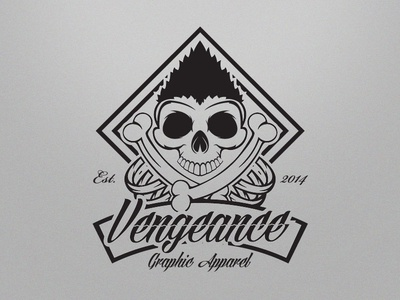 Vengeance Graphic Apparel Logo Design by Ernest Gerber - Dribbble
