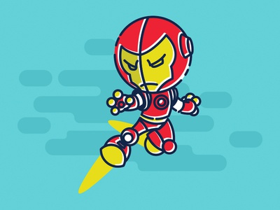 Ironman comic vector illustration character ironman