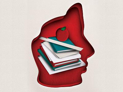 Hello Paisa Education Poster Illustration advertising graphic design illustration paper effect paper books education face