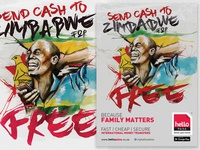 Hello Paisa Free to Zimbabwe Illustration