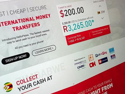 Hello Paisa Website Redesign In Progress calculate transfer red redesign design website design website
