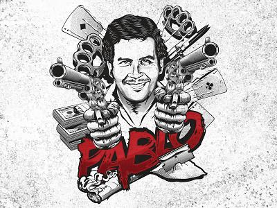 Pablo Escobar Mafia man t-shirt design competition 99designs tshirt design apparel typography vector t-shirt illustration