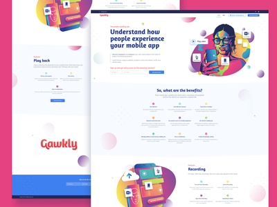 Gawkly - User testing with a easy mobile pocket usability lab website design illustration design prototype ui ux user experience usability usability testing user user testing gawkly