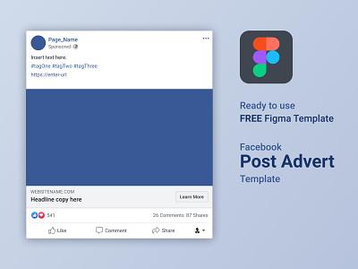 FREE Figma Facebook Advert Post Template logo copywriting socialmedia ux ui design figmaafrica figmadesign figma autolayout facebook advertising template free