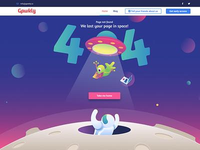 Gawkly 404 Page not found design gawkly website ui spaceship alien vector illustraion page not found 404 error 404page