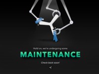 Yvolver Maintenance Screen