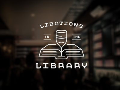 Libations in the Library outline cocktails branding books