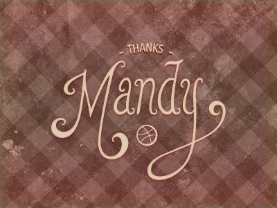 Thanks Mandy debut hand lettering