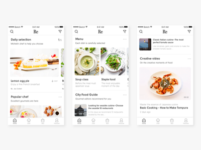 About the food recommended app app food